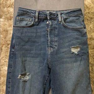 Forever 21 Boyfriend High Waist Ripped Jeans